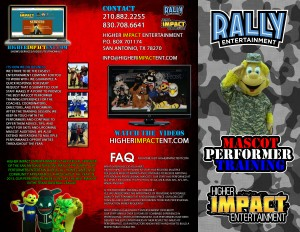 Mascot Performer Training Brochure